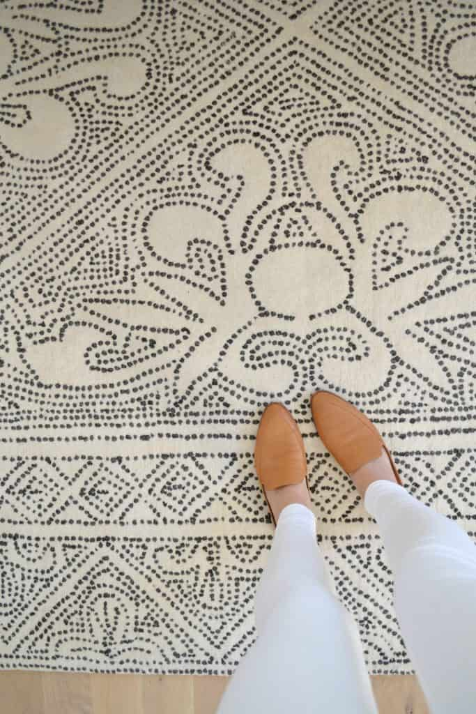 feet on the mirabelle rug