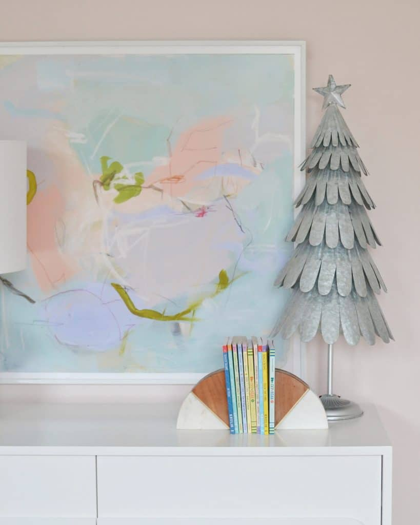 christmas in a girls room - little tree on the dresser