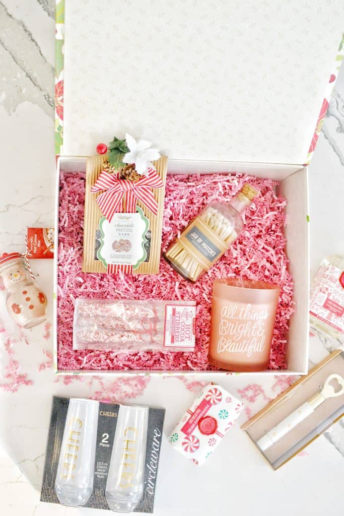 box full of all pink gifts