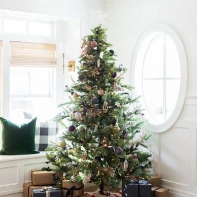 Christmas tree with round window