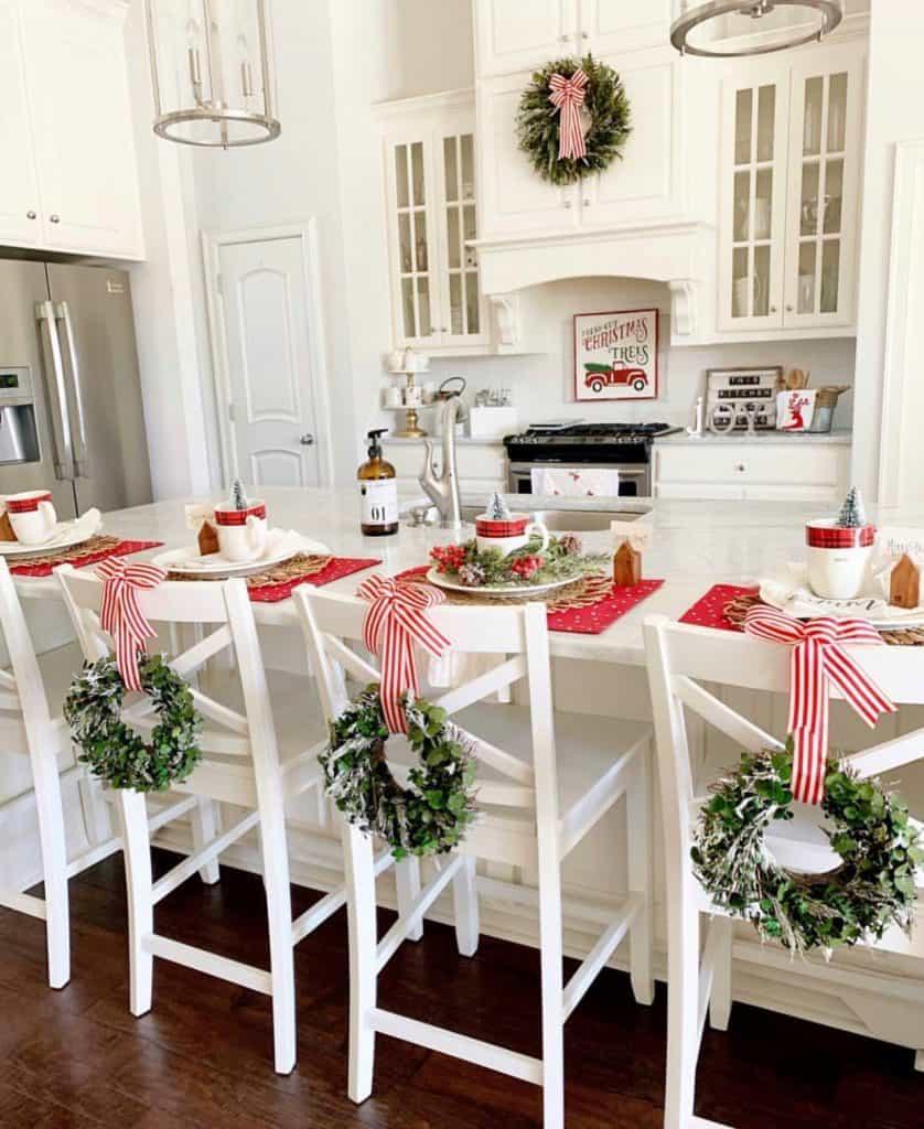 dekorasi natal dapur rumah