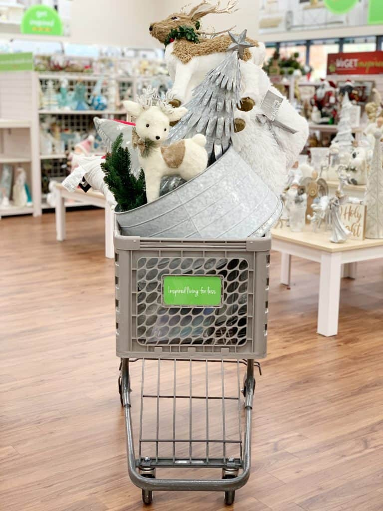 cart full of christmas items from Home Centric