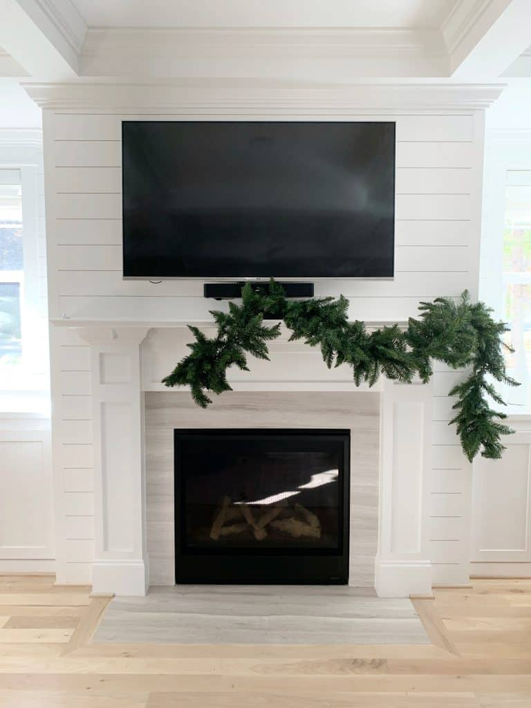 half of a Christmas Garland for your fireplace