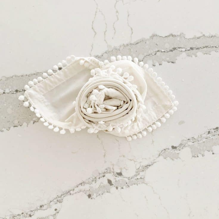 Learn The Rose Napkin Fold In 30 Seconds