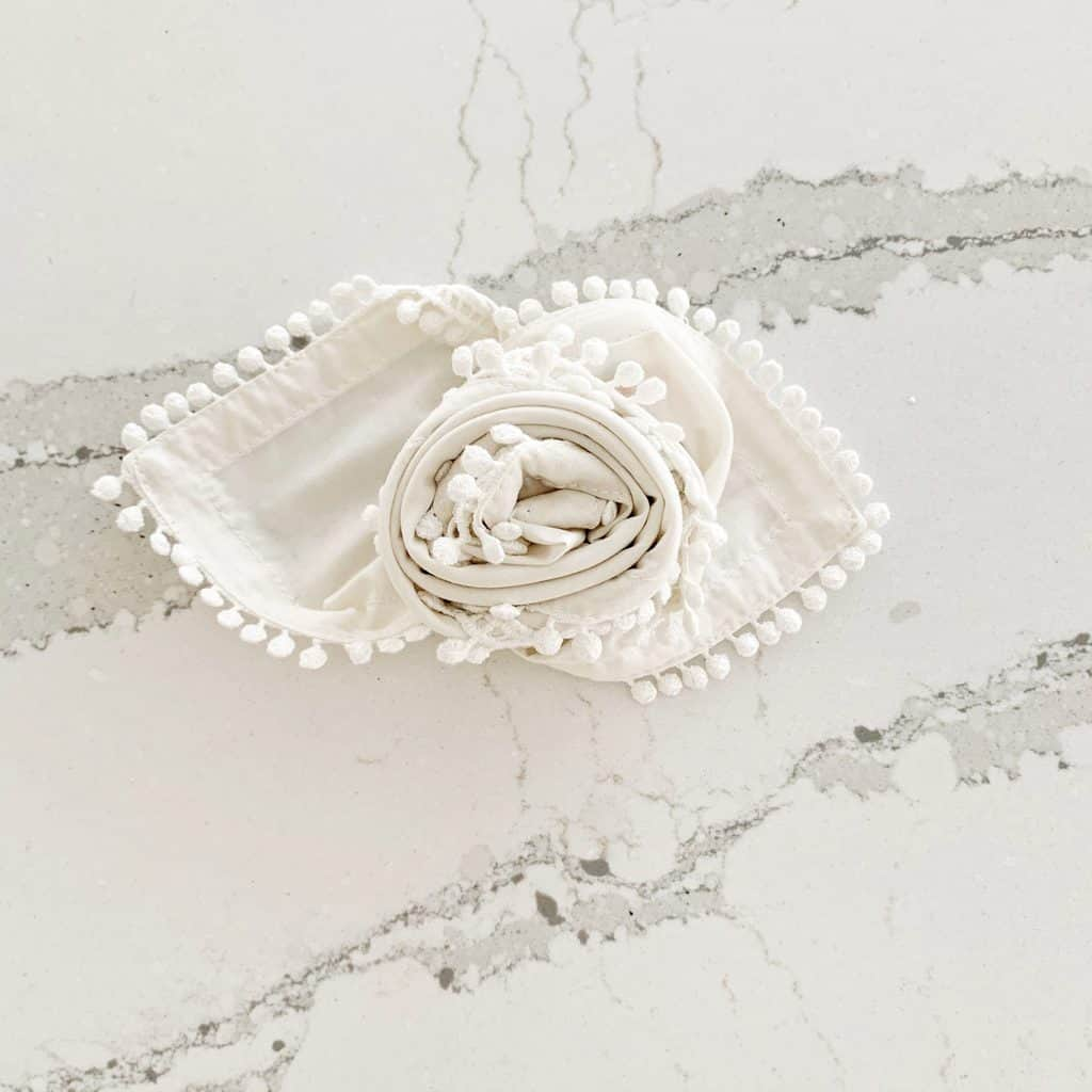 Learn The Rose Napkin Fold In 30 Seconds Chrissy Marie Blog