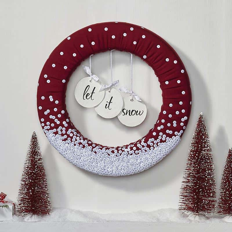 christmas diy decorations wreath