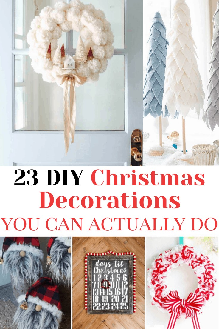 pinterest image that reads diy christmas decorations