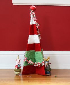 DIY Christmas decor a yarn tree