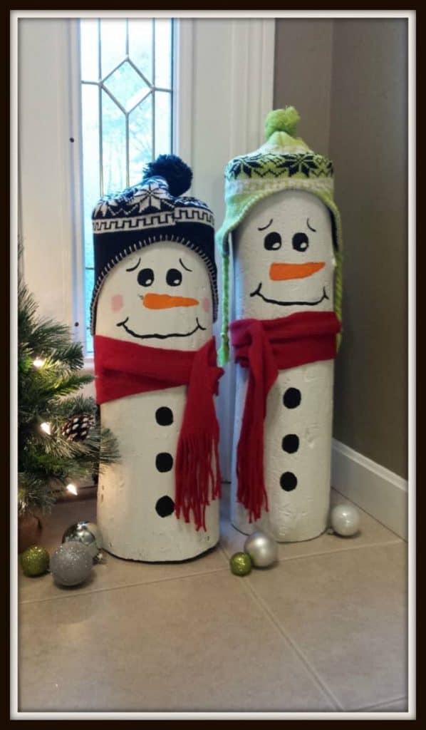 2 snowman christmas diy
