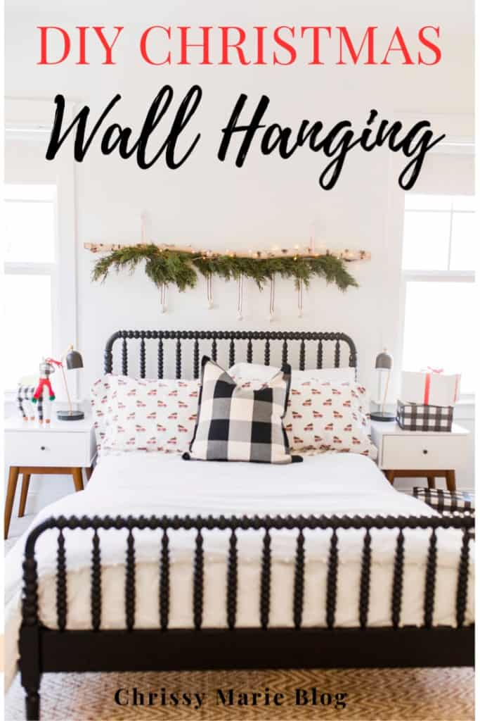 Pinterest Image That reads DIY christmas wall hanging