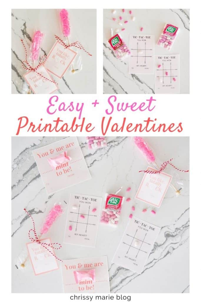 Pinterest Image That Says Easy Printable Valentine Cards