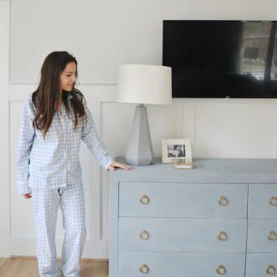 Cozy Blue Gingham Pajamas