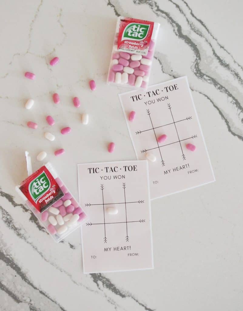 printable valentines with candy tic tac toe