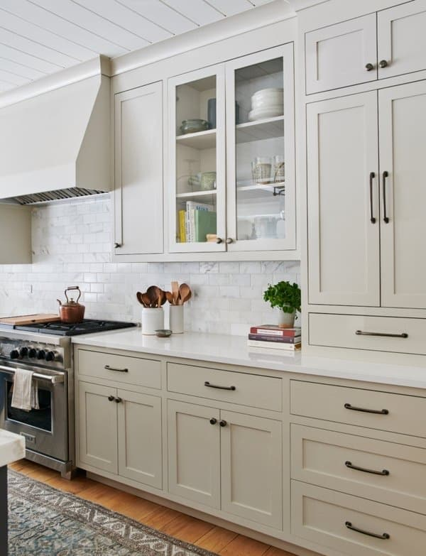 greige kitchen cabinets as a kitchen trend for 2020