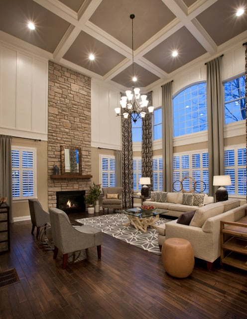 large two story living room
