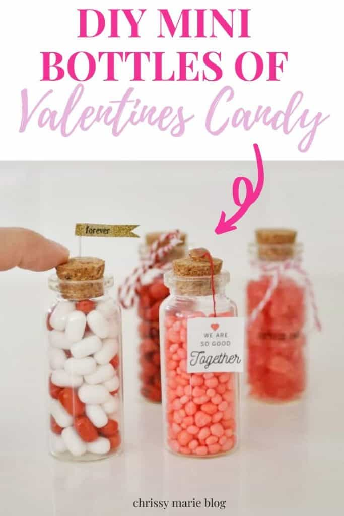 Pinterest image that says diy valentines jar