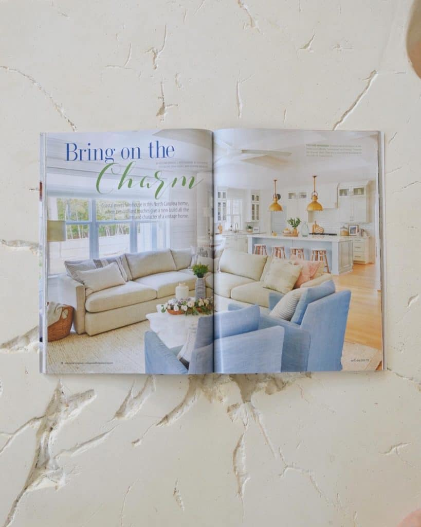 living room in cottages and bungalows magazine