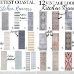 pinterest image with kitchen runner rugs