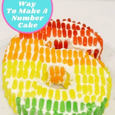 Make A Number Cake The Easy Way