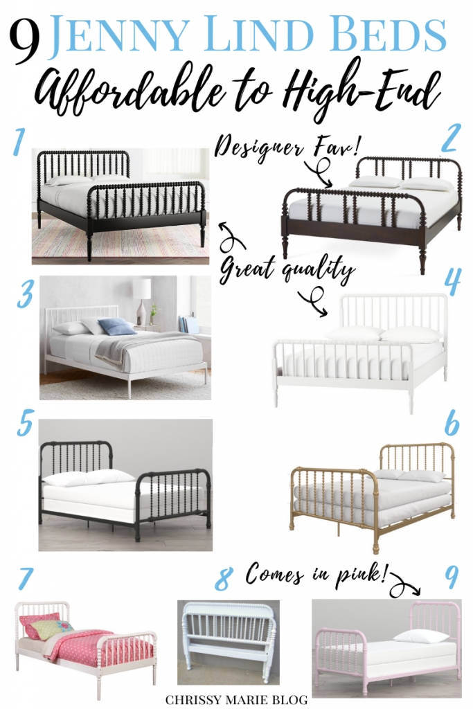 Jenny Lind bed roundup for pinterest