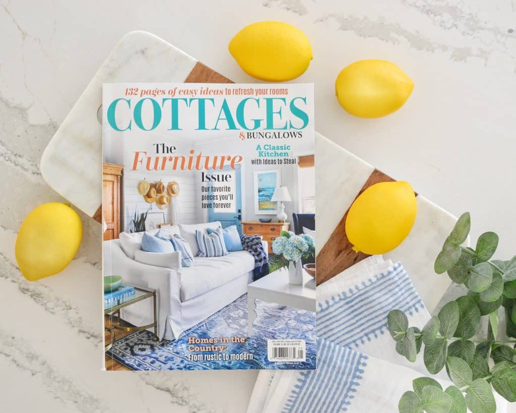 cottages and bungalows magazine lying on a counter