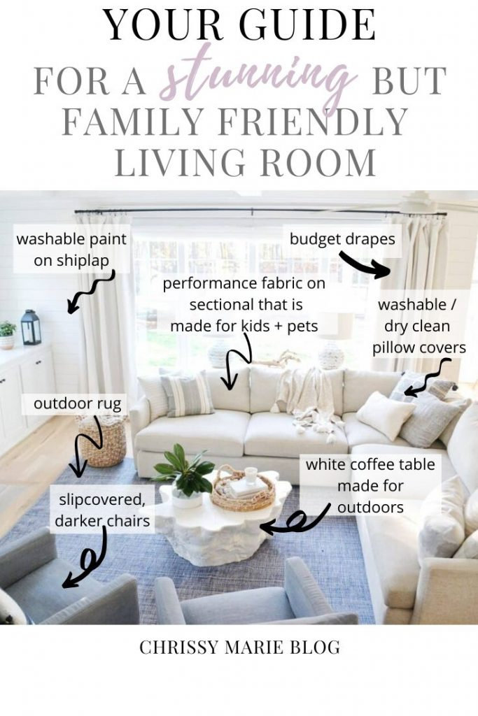 blue living room how to guide for pinterest