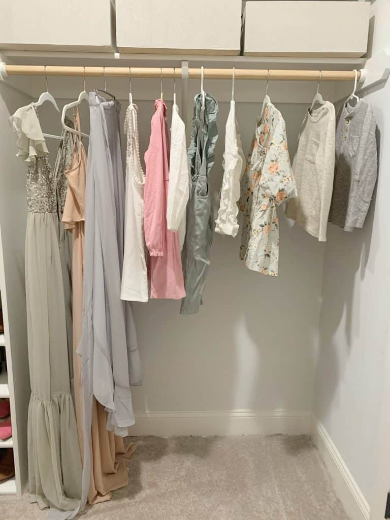 clothes on a hanger for 1st 28 photography