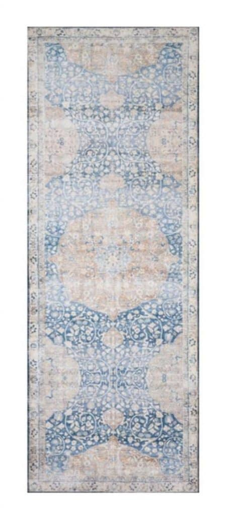 Pretty blue patterned vintage runner