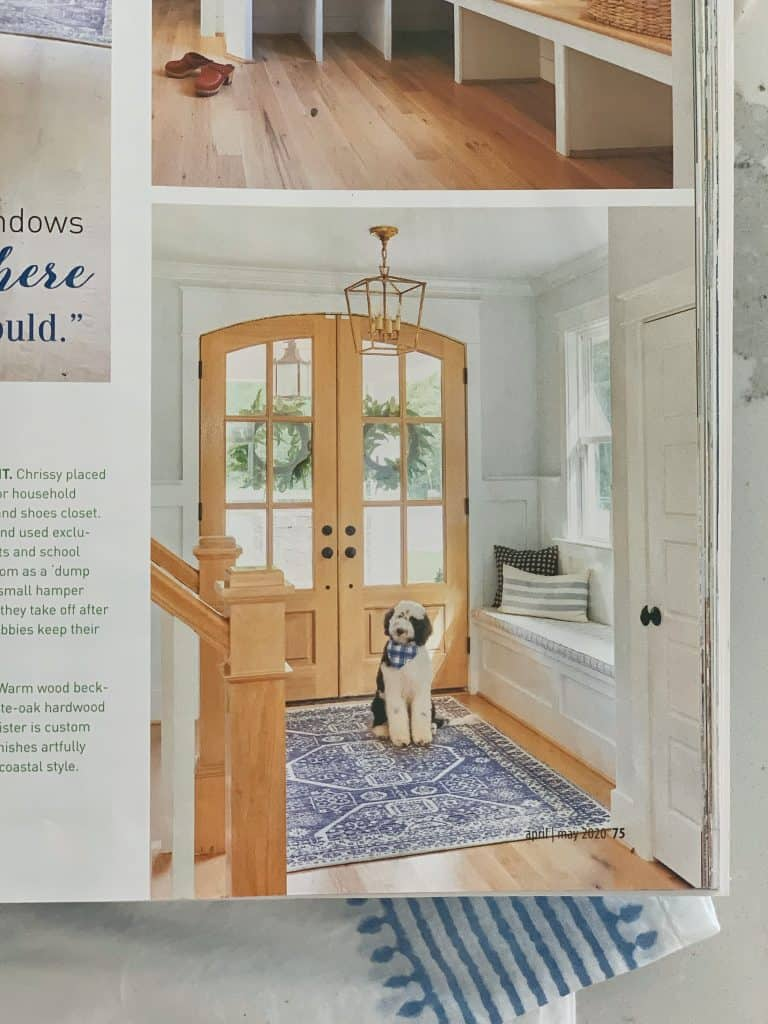 cottages and bungalows magazine page showing a dog