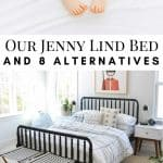 pinterest image that reads 8 Jenny Lind beds