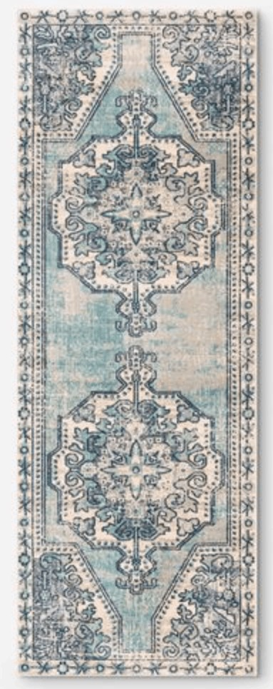 best runner rug teal and blue