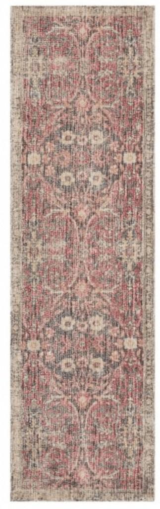 a pink rug