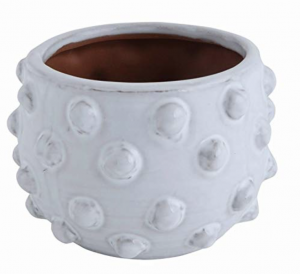 white raised dot vase from amazon home find