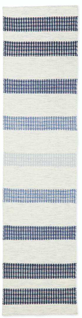 coastal runner rug with blue stripes from Serena and lily
