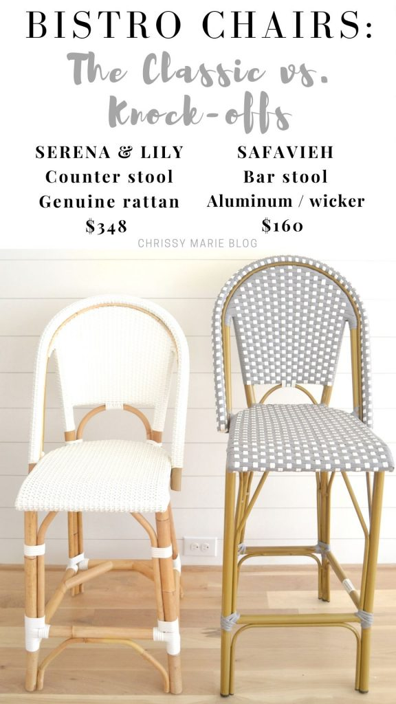 pinterest image with 2 bistro chairs