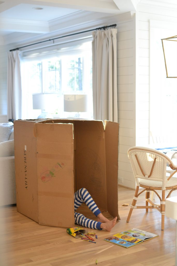 a box in a kitchen is the best activities for kids at home