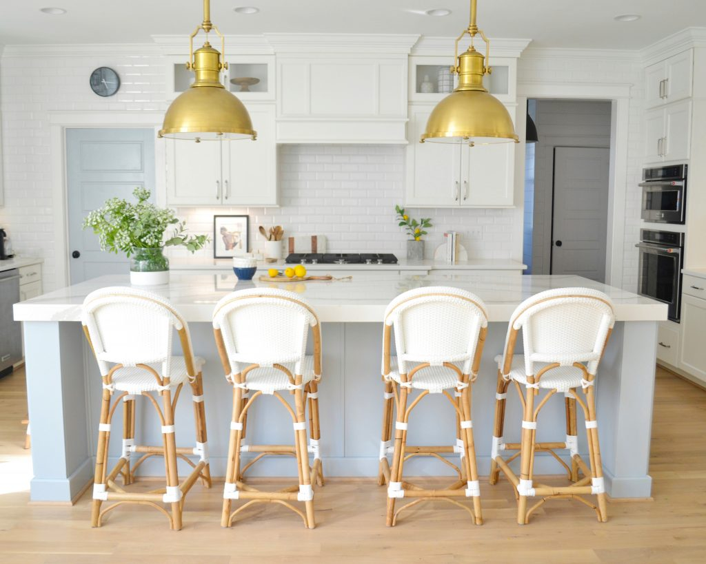 bistro stools at kitchen counter