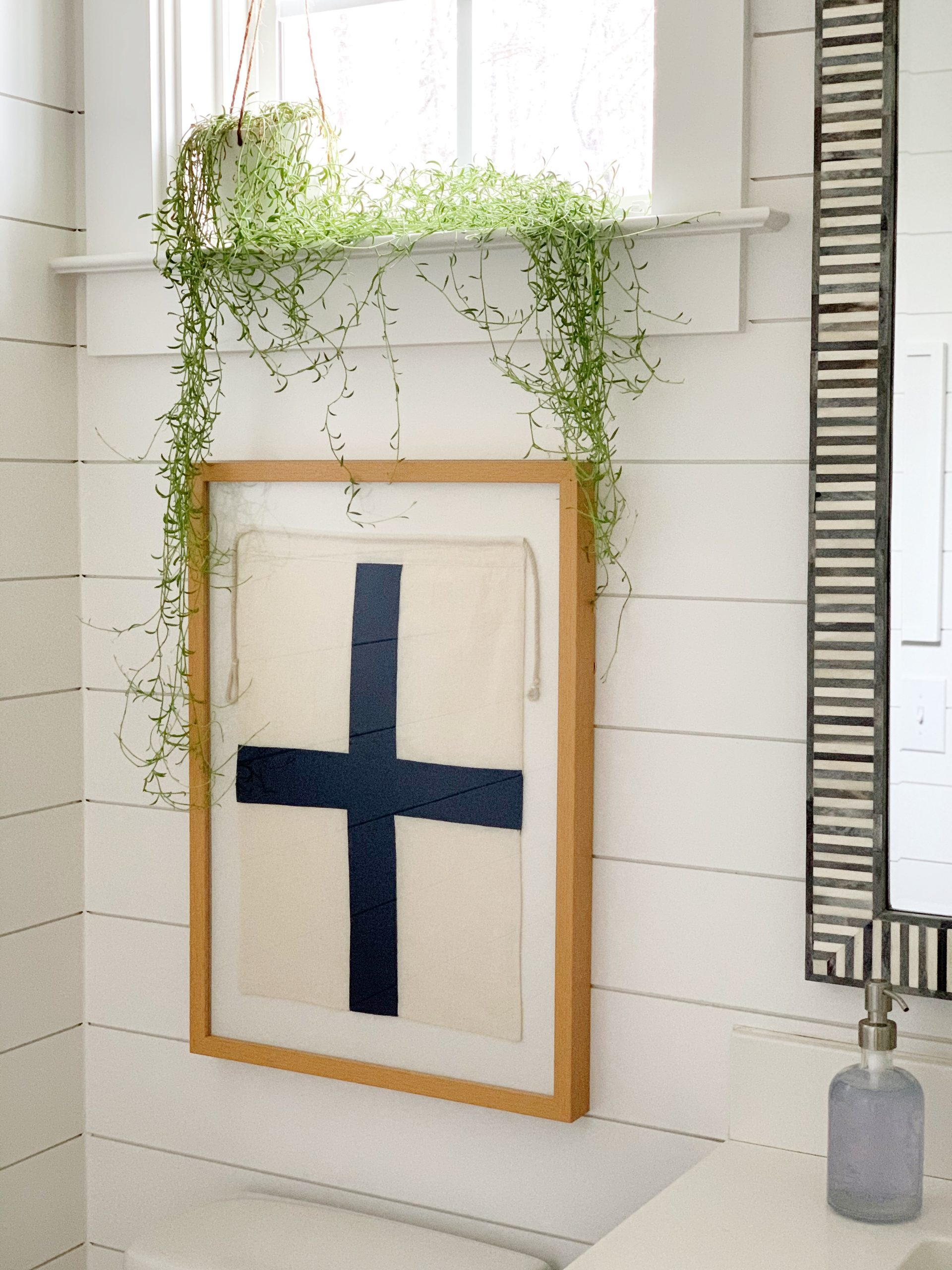 nautical flag framed from pottery barn