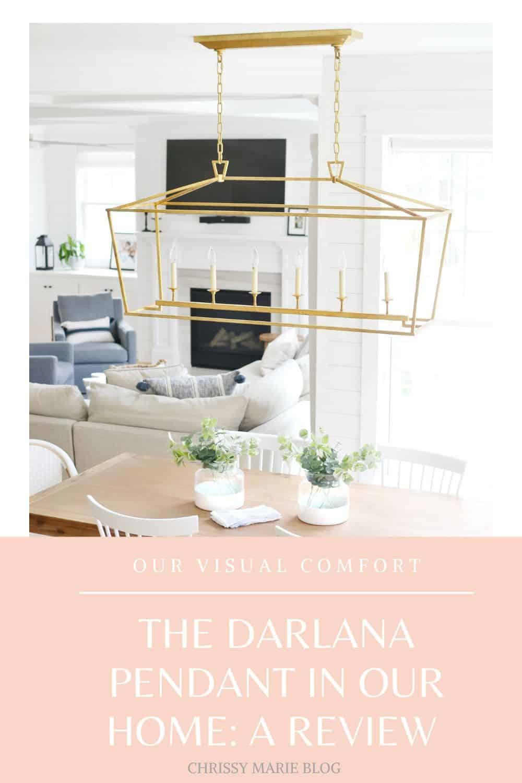 pinterest image that says Visual Comfort Darlana Pendant review