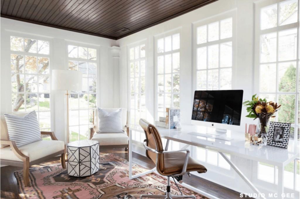11 Stunning Home Offices With Feminine Desks Chrissy Marie Blog