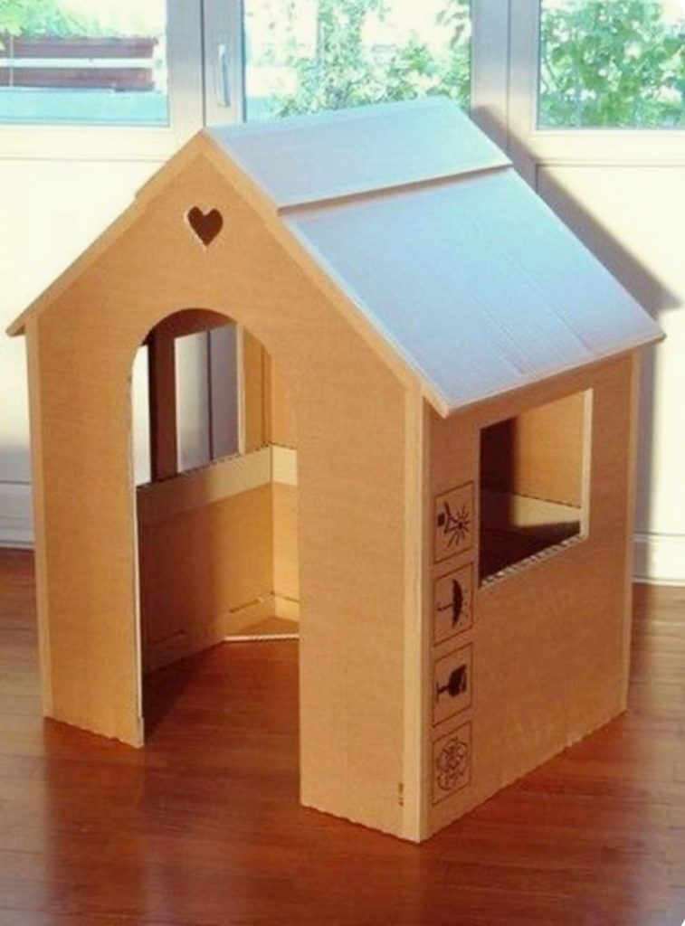 cool cardboard house diy box activities for kids at home