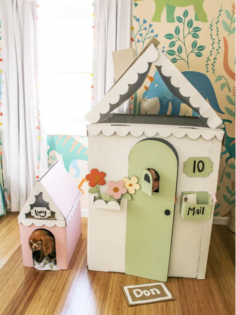 cardboard house activities for kids