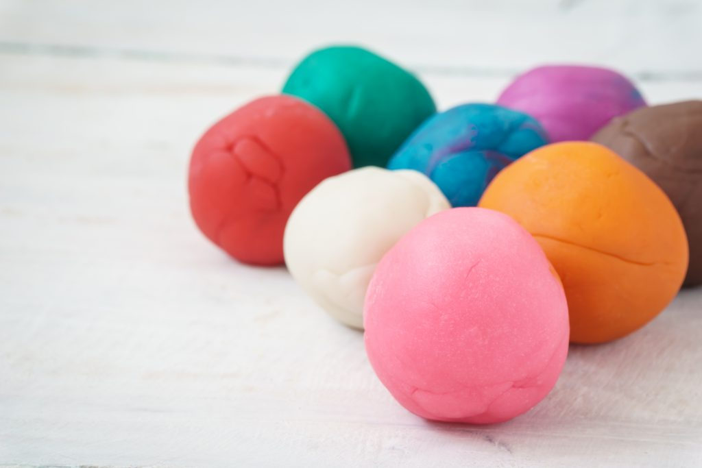 play dough balls activities for kids to do at home