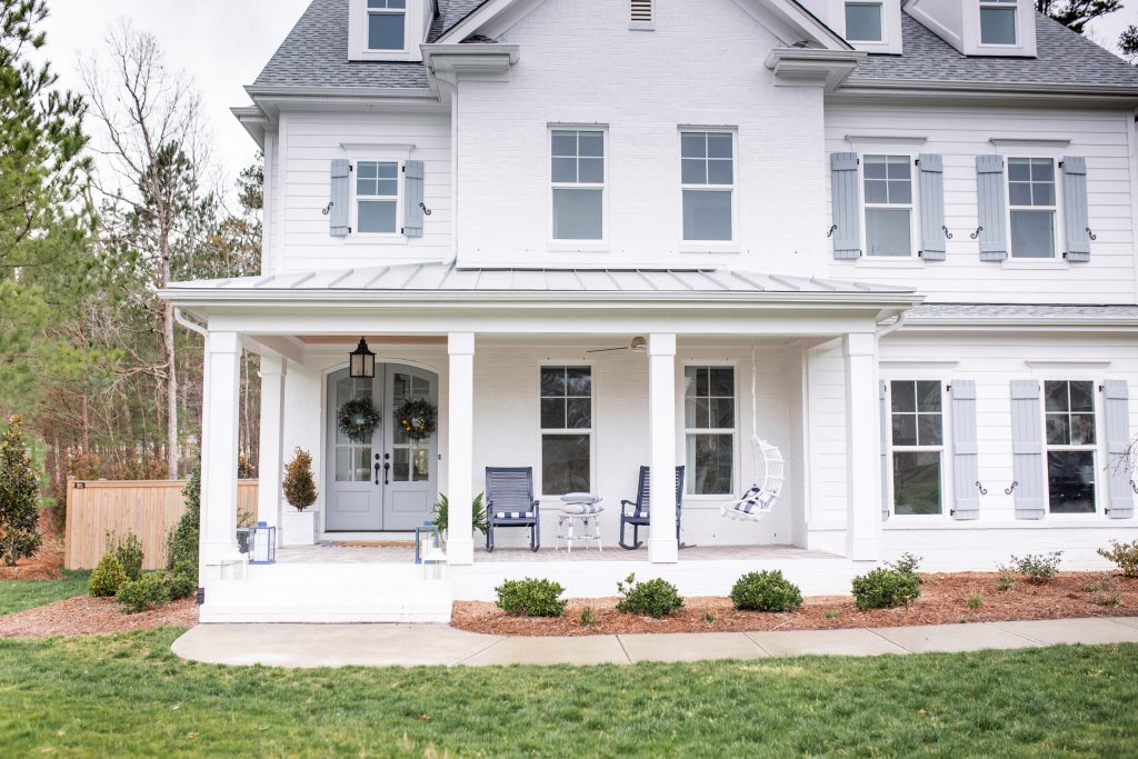 white brick modern farmhouse
