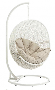 white outdoor hanging chair