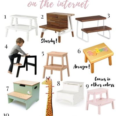 The 12 Cutest Kids' Step Stools On The Internet