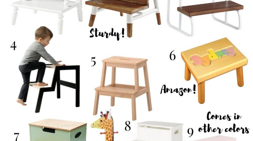 a round up image of 12 kids step stools