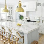 white quartz in a kitchen