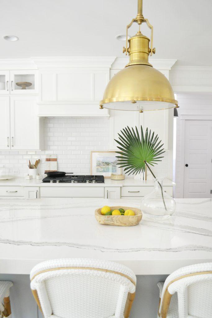 white quartz in a kitchen