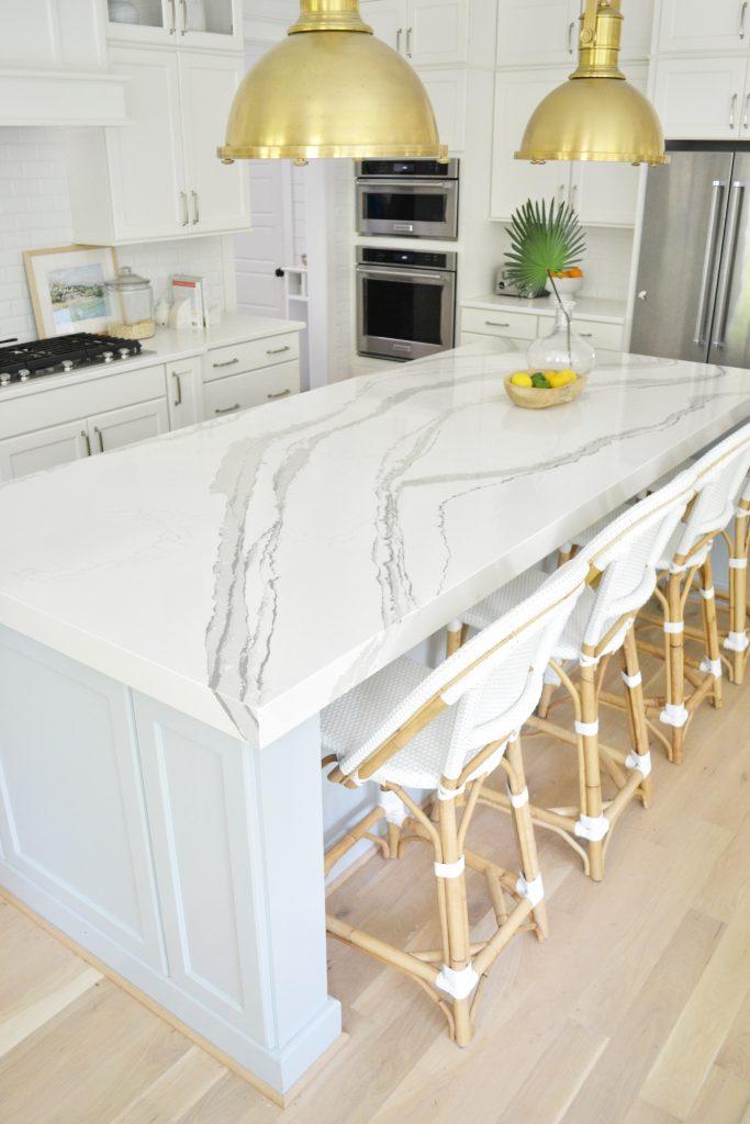 stunning Cambria Brittanicca quartz in a kitchen